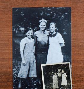 1943 год. Нина с сестрами Женей и Ларисой (справа налево)
