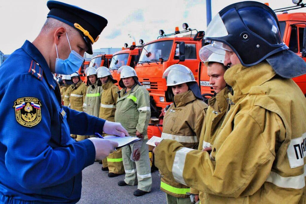 Проверка готовности сводного отряда Центрального административного округа по тушению пожаров