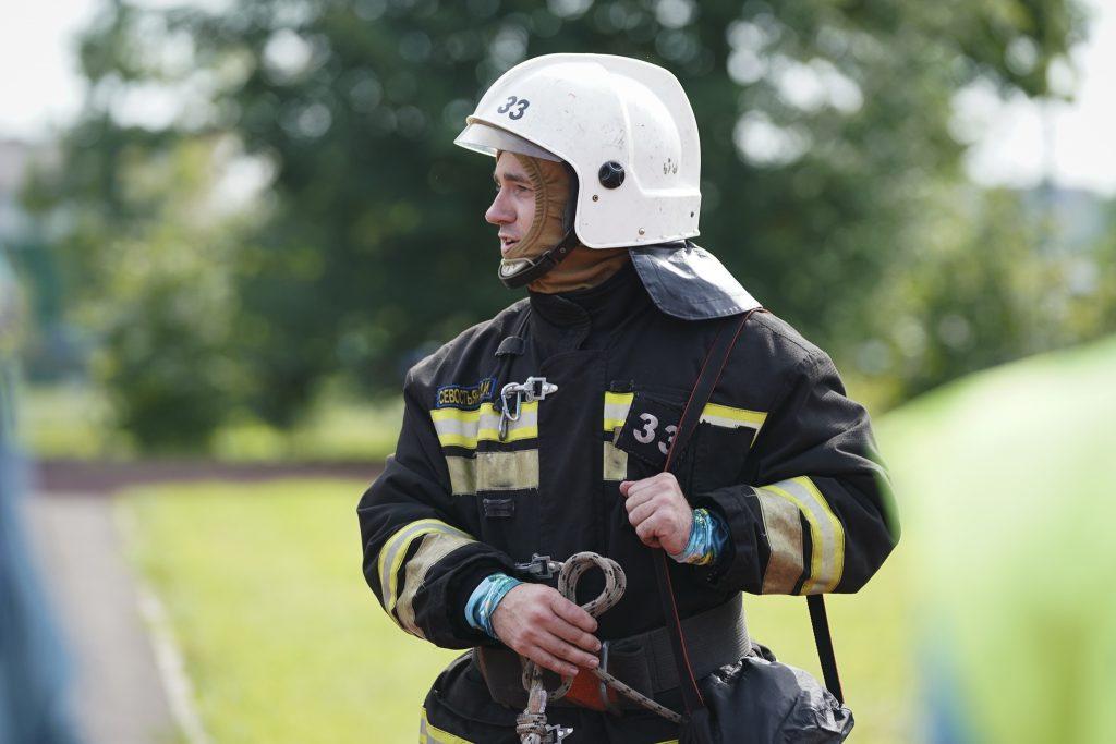 В Москве выбрали лучшего пожарного