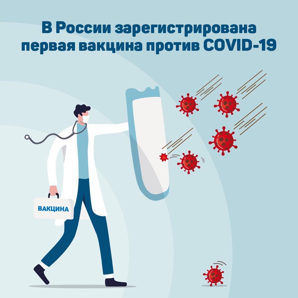 Вакцину против коронавируса зарегистрировали в России