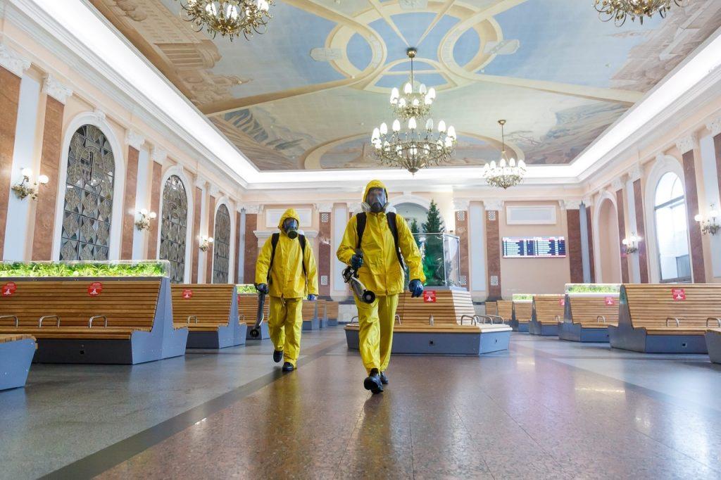 По всей стране подразделения МЧС России возобновляют масштабные работы по санитарной обработке социально значимых объектов и объектов транспортной инфраструктуры