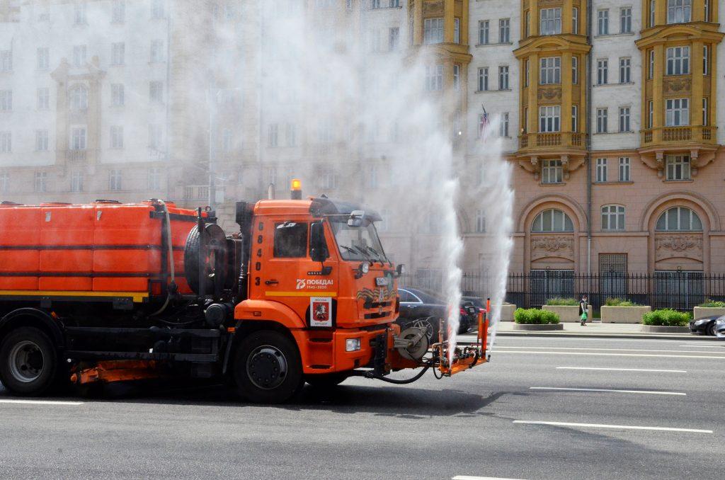 Дезинфекцию более 50 объектов городского хозяйства проведут на Арбате