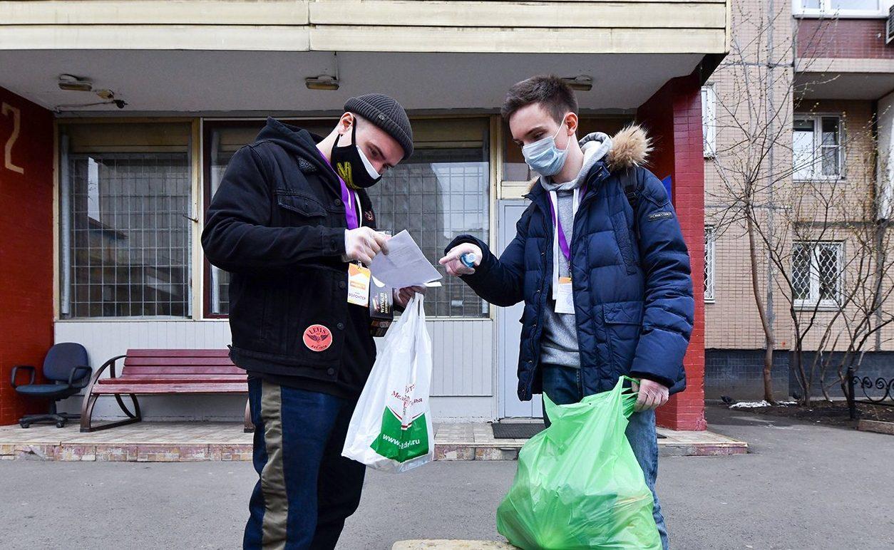 Активисты Молодежной палаты Пресненского района оказали помощи москвичам в условиях пандемии. Фото: сайт мэра Москвы