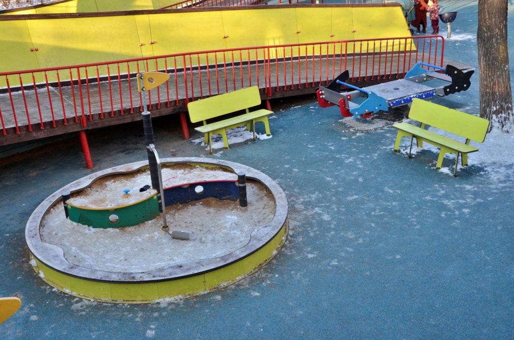Пять детских площадок в Мещанском районе благоустроили в 2020 году