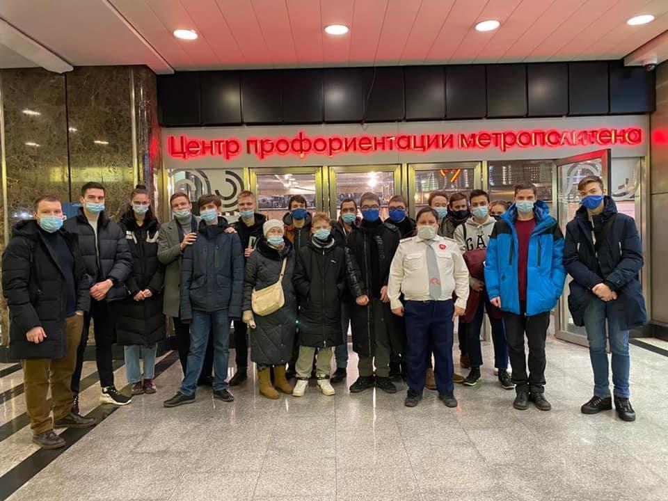 Активисты Молодежной палаты Мещанского района организовали экскурсию в музей Московского метрополитена