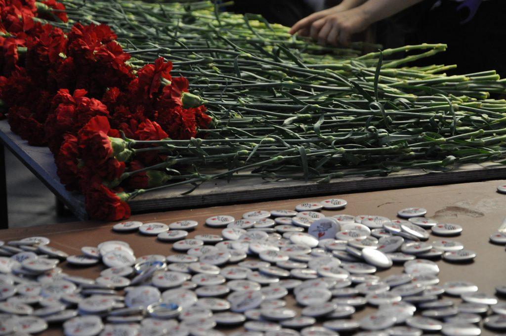 Активисты Молодежной палаты района Арбат приняли участие в возложении цветов