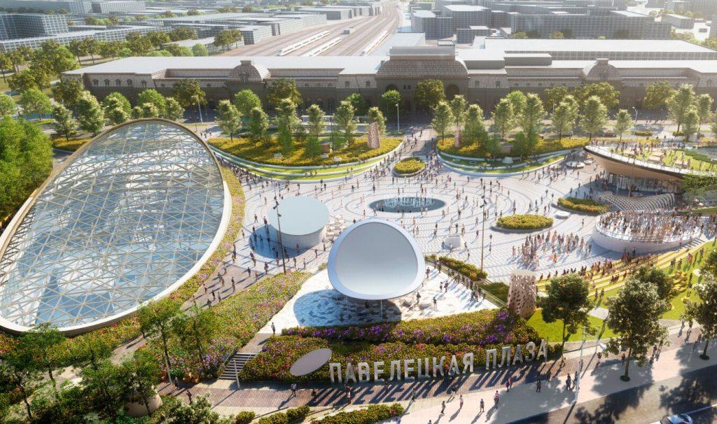 Павелецкую площадь в районе Замоскворечье приведут в порядок до конца 2021 года