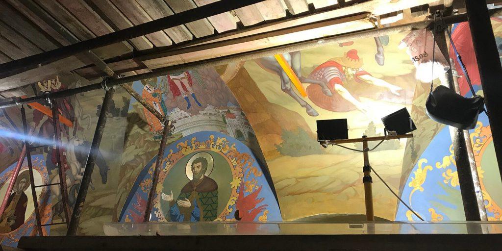 Москвичам рассказали о реставрации храма Знамения Иконы Божией Матери за Петровскими воротами
