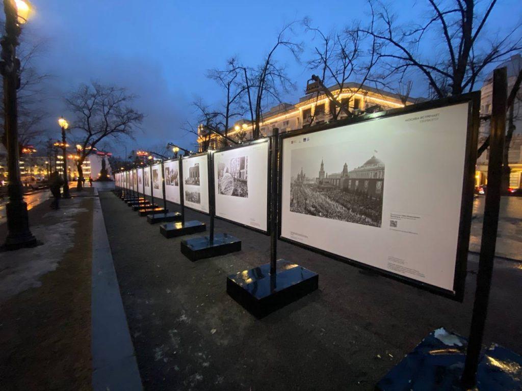 Москва встречает первого: на Тверском бульваре открылась новая фотовыставка. Фото предоставили в пресс-службе Музея космонавтики