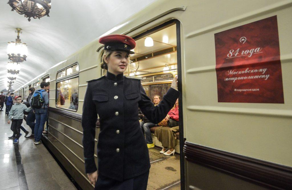 Парад ретропоездов устроили в московском метро