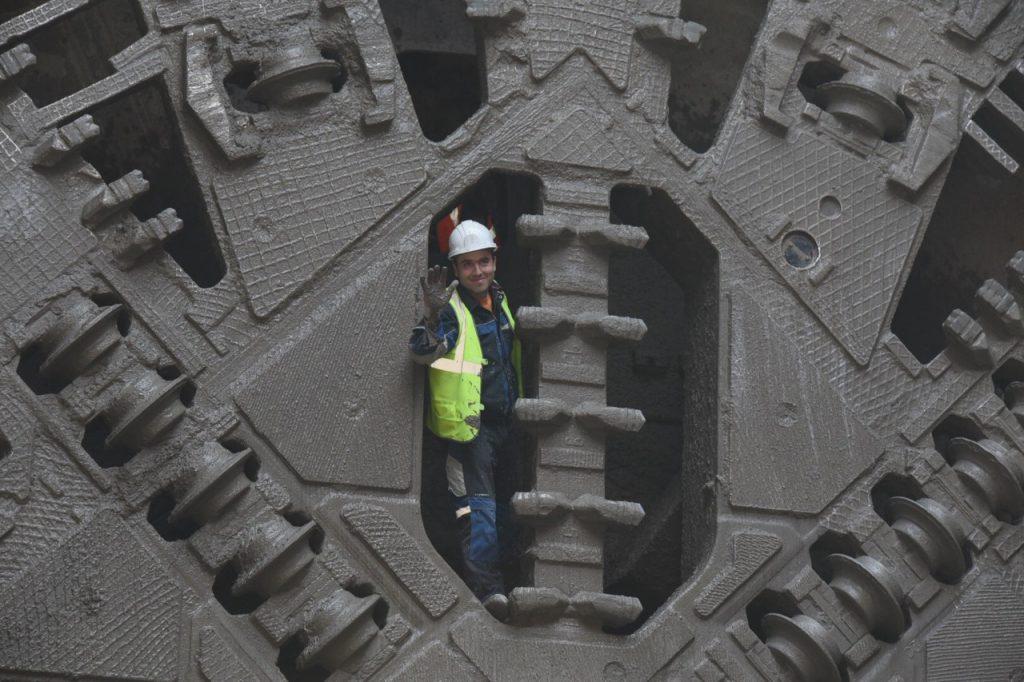 Щит «Виктория» проложил участок тоннеля БКЛ под станцией метро «Печатники»
