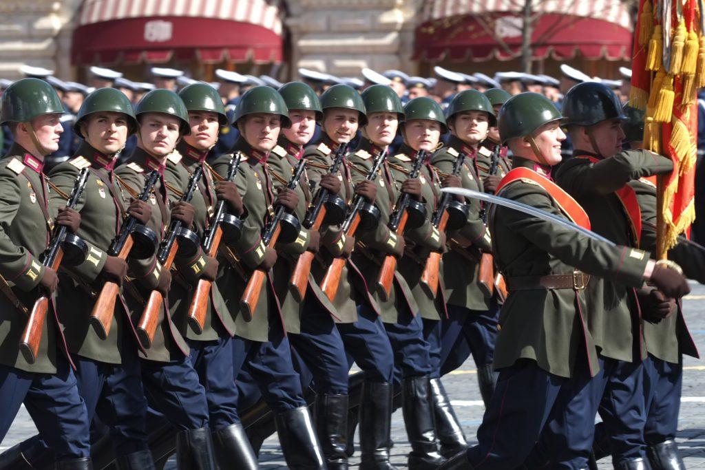 Генеральную репетицию парада Победы провели на Красной Площади