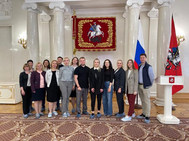 Молодые парламентарии Мещанского района посетили мэрию Москвы