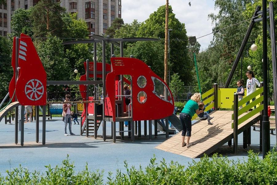 Детские площадки благоустроят в Якиманке. Фото: Анна Быкова