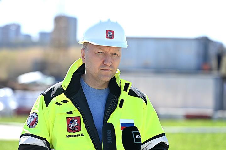 На фото заместитель мэра Москвы по вопросам градостроительной политики и строительства Андрей Бочкарев