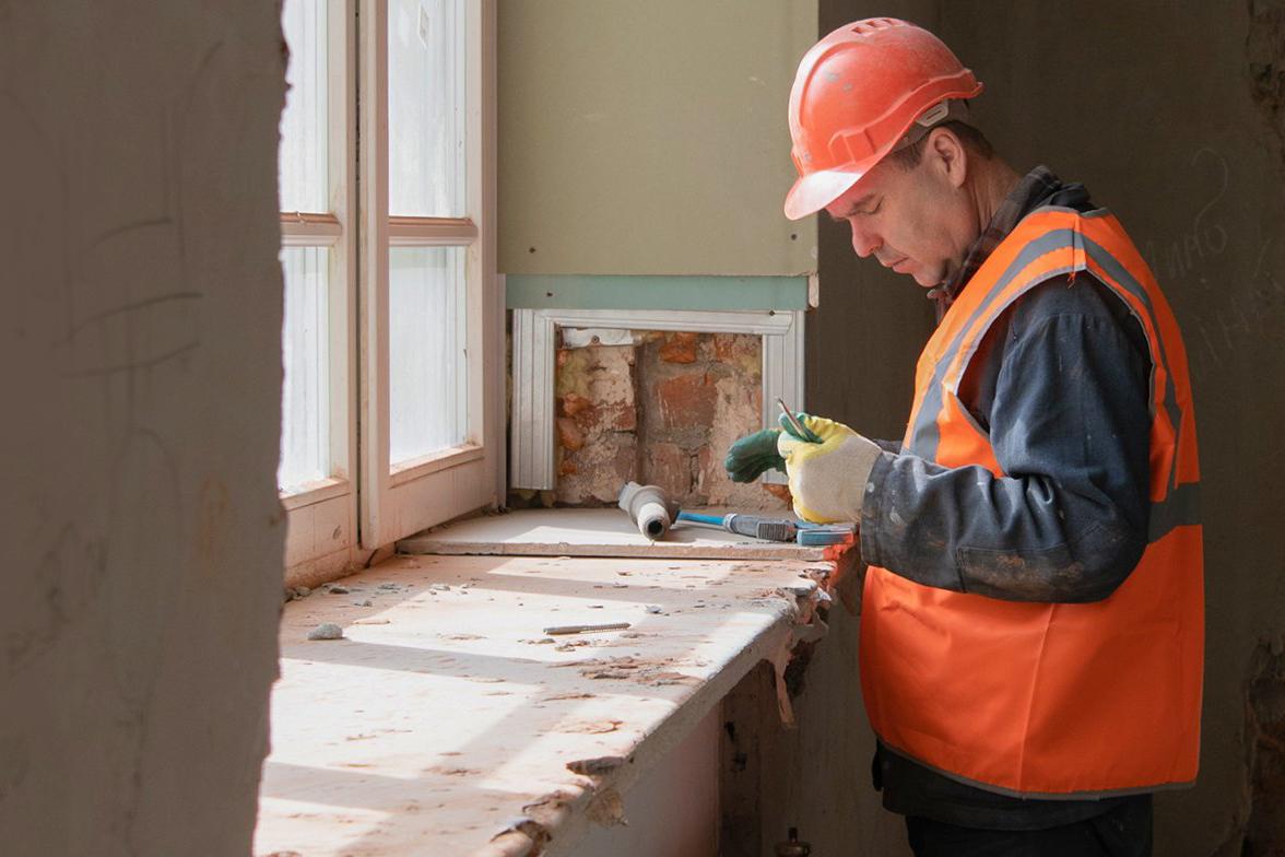 Капитальный ремонт дома архитектора Рутковского завершат до конца осени. Фото: сайт мэра Москвы